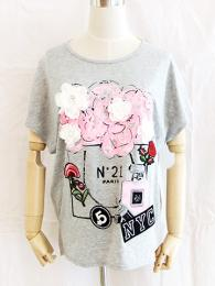 【SALE】COOLA/クーラ/No,21 FlowerプリントTee/CQ-31006-75-38